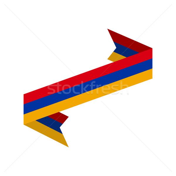 アルメニア フラグ リボン 孤立した テープ バナー ストックフォト © popaukropa