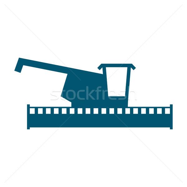 combine harvester logo. Sign Farm. Machine for harvesting grain  Stock photo © popaukropa
