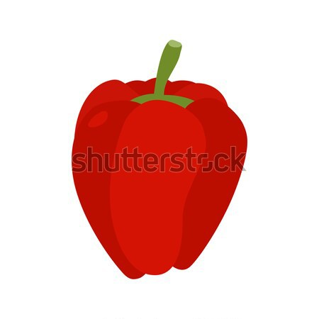 Bulgarian pepper isolated. Red vegetables on white background. F Stock photo © popaukropa