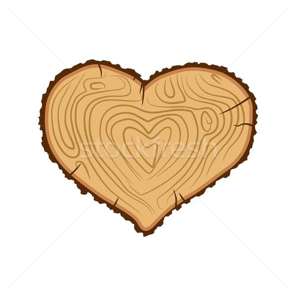 Serca drewna miłości drzewo jak drewno opałowe Zdjęcia stock © popaukropa