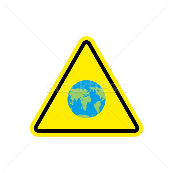 земле желтый планеты опасность внимание Сток-фото © popaukropa