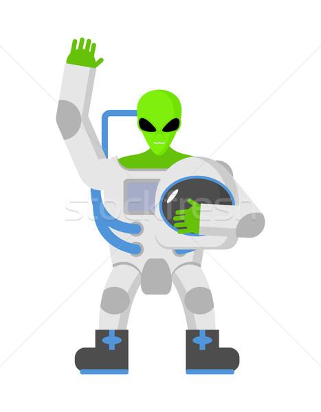 外国 スペース スーツ UFOの 宇宙飛行士 幸せ ストックフォト © popaukropa