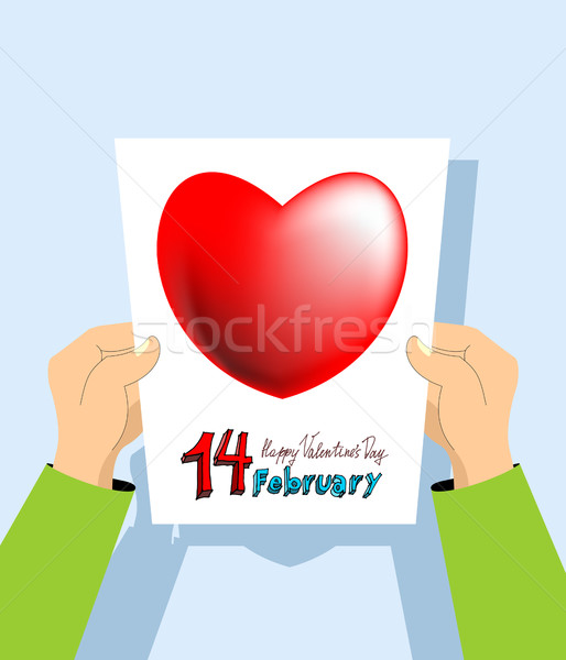 Valentine's Day card. February 14th.   Stock photo © popaukropa