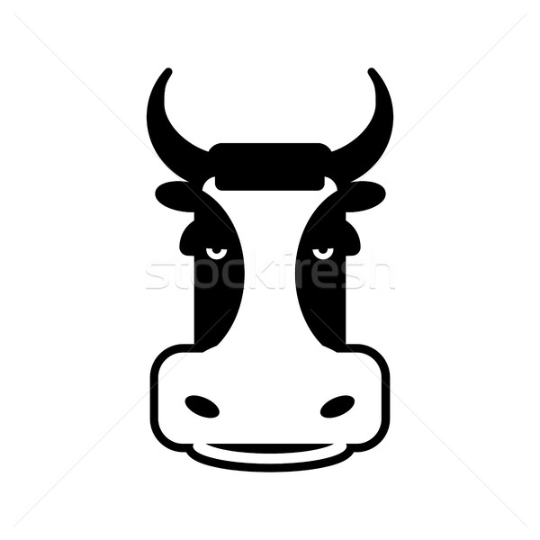 Cow head sign. Bull face symbol. Farm animal Stock photo © popaukropa