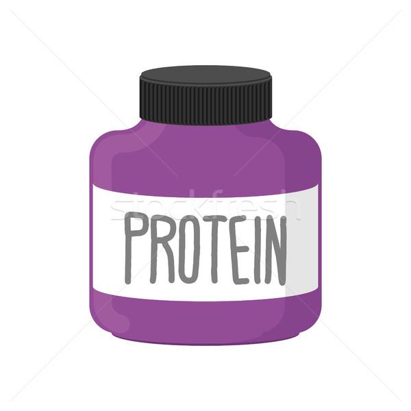 Protéines contenant sport nutrition blanche Photo stock © popaukropa