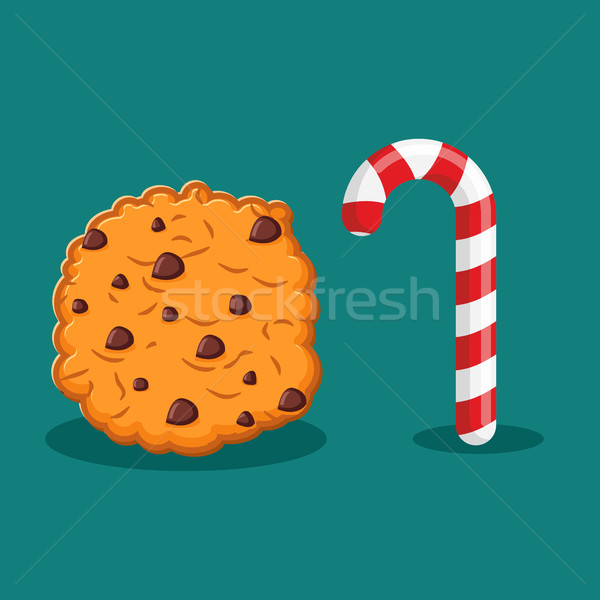 Stock fotó: Borsmenta · karácsony · cukorka · sütik · étel · új · év