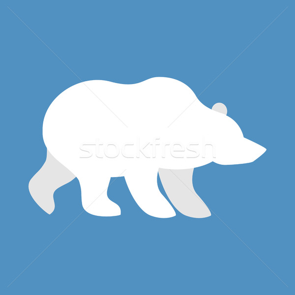 Polar bear. Wild animal north pole. Beast of Arctic and Antarcti Stock photo © popaukropa