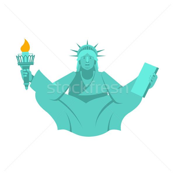 Amerika yoga heykel özgürlük lotus Stok fotoğraf © popaukropa