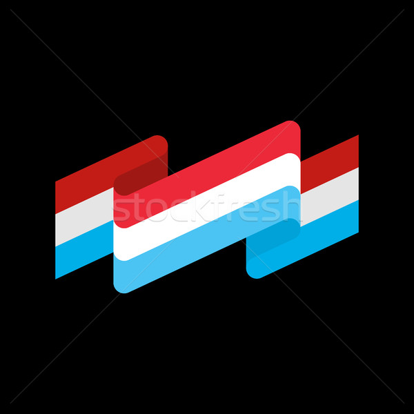 Luxembourg flag ribbon isolated. Grand Duchy tape banner. state  Stock photo © popaukropa