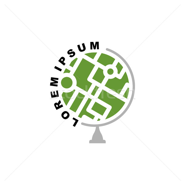 抽象的な 地球 世界中 ロゴ 学校 ストックフォト © popaukropa