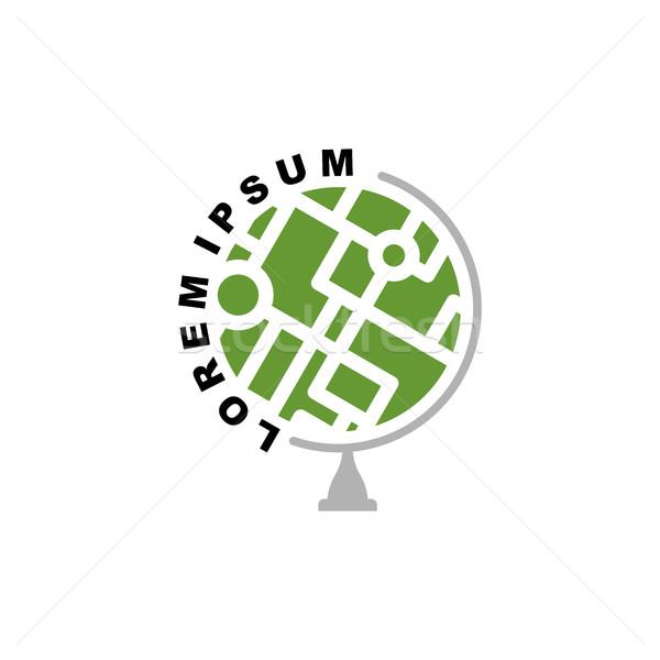 Abstrato terra globo logotipo agência de viagens escolas Foto stock © popaukropa