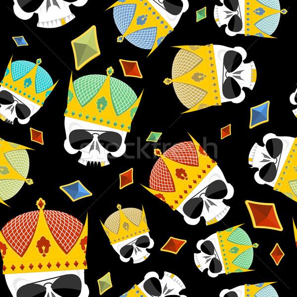 Rua ouro coroa crânio vetor Foto stock © popaukropa