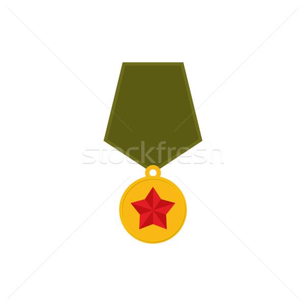 Armii medal odizolowany wojskowych wynagradzać biały Zdjęcia stock © popaukropa