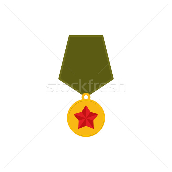 Exército medalha isolado militar recompensar branco Foto stock © popaukropa