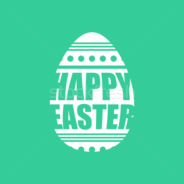 Happy easter emblem. Egg symbol Religion holiday.  Stock photo © popaukropa