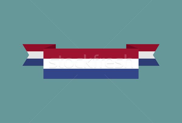 Zászló szalag izolált holland szalag szalag Stock fotó © popaukropa