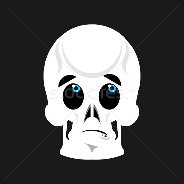 Skull Surprised Emoji. skeleton head astonished emotion isolated Stock photo © popaukropa