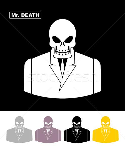 Morte crânio empresário esqueleto escritório Foto stock © popaukropa