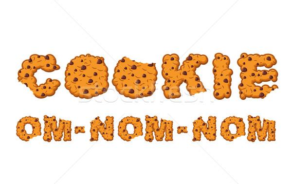 Cookie typografie brieven biscuit cookies eetbaar Stockfoto © popaukropa
