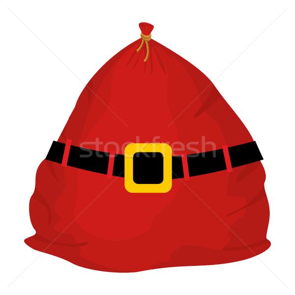 Christmas sack Red large. Santa big bag. sackful Gift for childr Stock photo © popaukropa