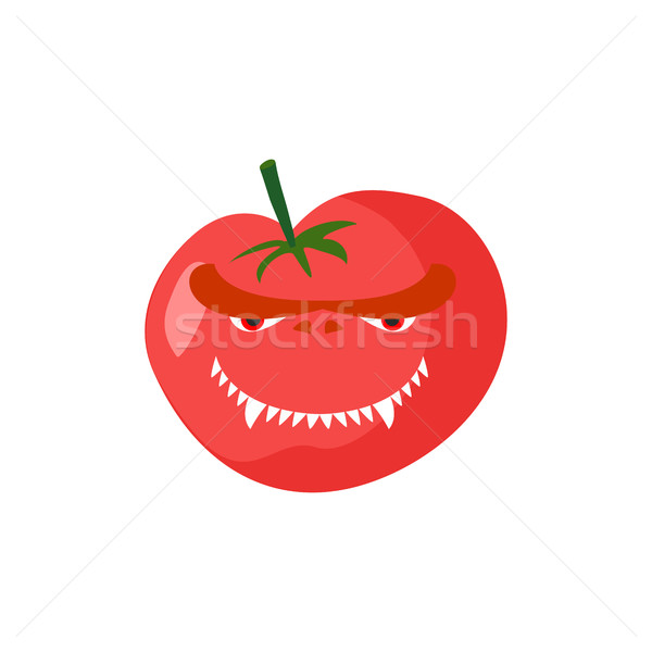 Mérges paradicsom agresszív piros zöldség veszélyes Stock fotó © popaukropa