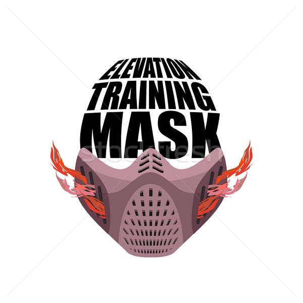 Képzés maszk fitnessz sportok atléta természet Stock fotó © popaukropa