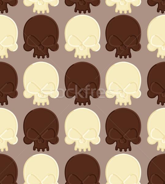 Cranio bianco cioccolato fondente testa scheletro Foto d'archivio © popaukropa
