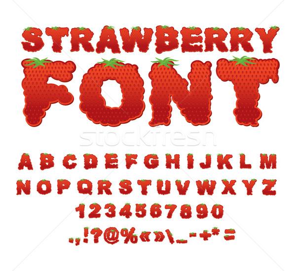 イチゴ フォント ベリー 赤 新鮮果物 アルファベット ストックフォト © popaukropa