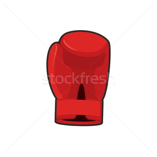 Vermelho boxeador equipamentos esportivos mão exercer Foto stock © popaukropa