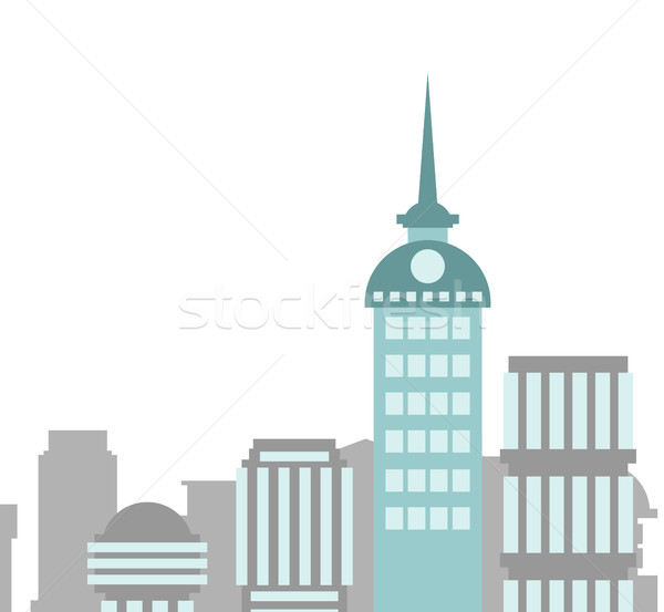 City buildings  landscape. Skyscrapers background. Capital backd Stock photo © popaukropa