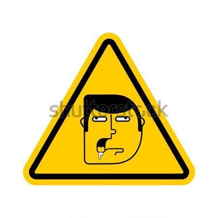 Aviso banheiro banheiro tigela amarelo triângulo Foto stock © popaukropa