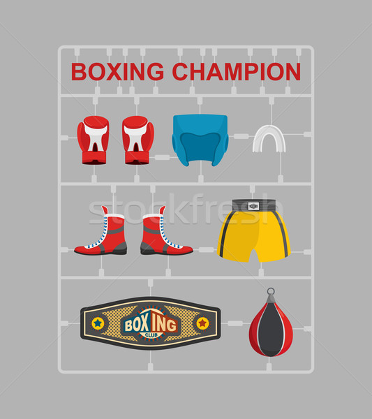 Boxing champion Plastic model kits  Stock photo © popaukropa