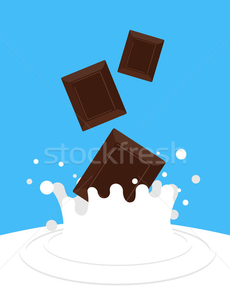 Chocolat relevant lait blanche spray sweet Photo stock © popaukropa