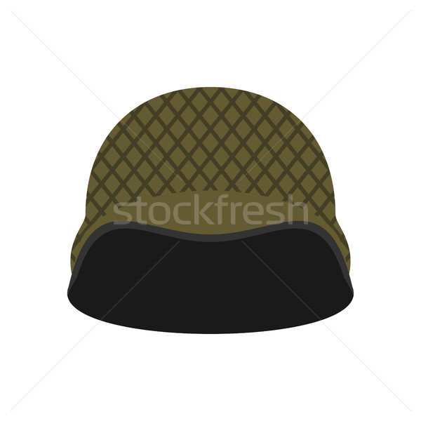 Military helmet isolated. Soldier protective hard hat on white b Stock photo © popaukropa