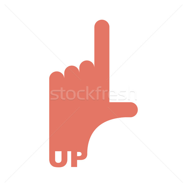 Hand pointer up. Direction of route finger isolated Stock photo © popaukropa