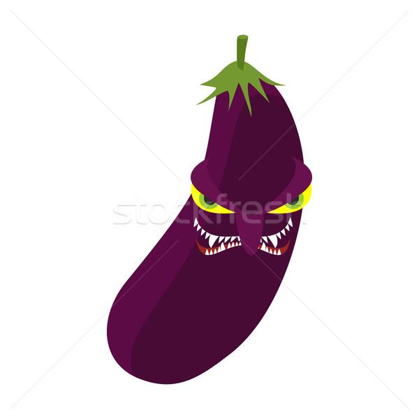 Colère aubergine agressif pourpre légumes dangereux Photo stock © popaukropa