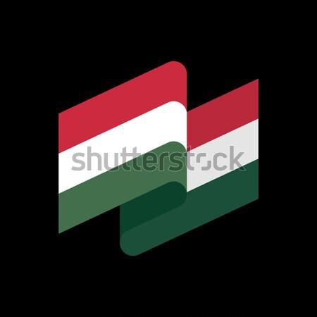 Vlag geïsoleerd hongaars lint banner symbool Stockfoto © popaukropa
