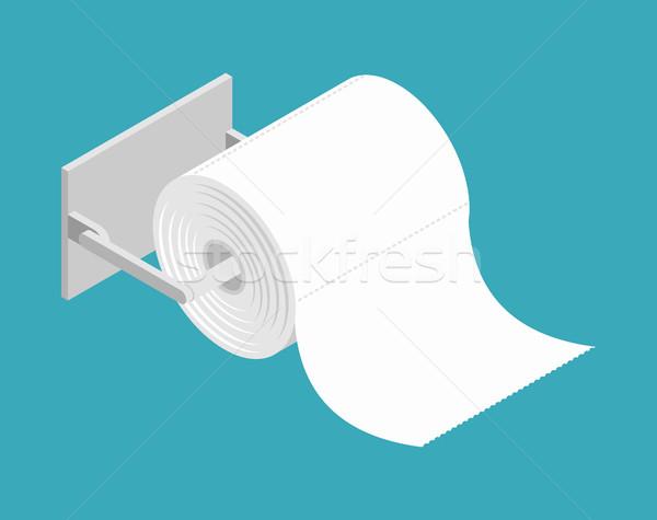 Rotolare carta igienica isolato mano blu nero Foto d'archivio © popaukropa
