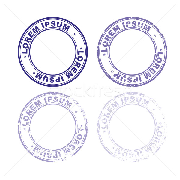 Set rubber stamp for documents. Abstract stamps template with va Stock photo © popaukropa