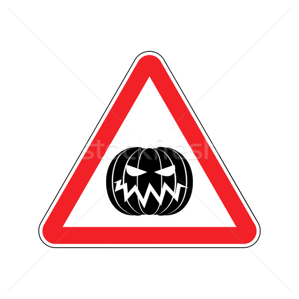 Halloween Warning sign red. Masquerade Hazard attention symbol.  Stock photo © popaukropa
