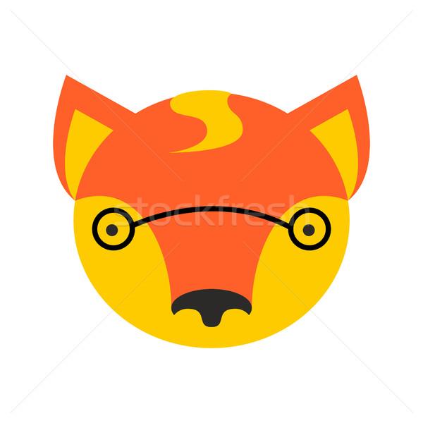Róka arc aranyos fej alkotóelem gyerekek Stock fotó © popaukropa