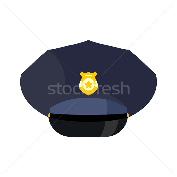 Police cap isolated. Hat cop officer. Accessory policeman Stock photo © popaukropa