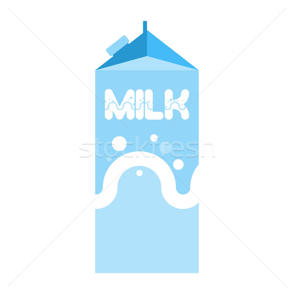 Milk package isolated. Cardboard box for drink Stock photo © popaukropa