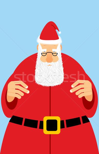 Дед Мороз красное платье Рождества характер белый борода Сток-фото © popaukropa