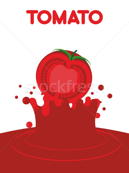 Tomato juice falls. Splash of tomato juice. Vector illustration  Stock photo © popaukropa