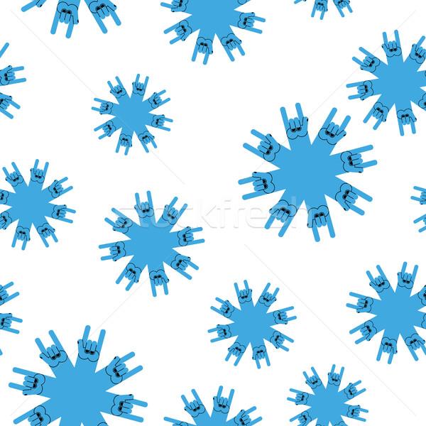 Sneeuwvlokken rock handteken naadloos rollen winter Stockfoto © popaukropa
