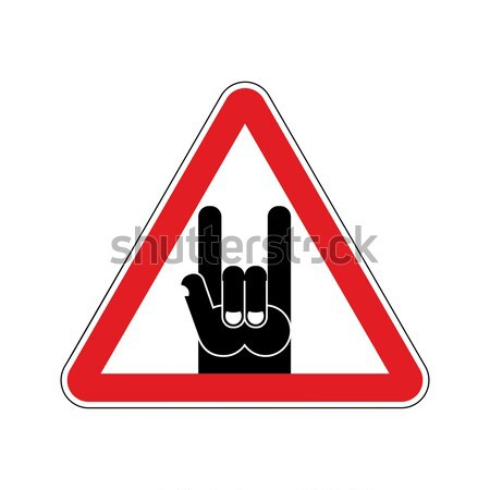 Danger sign. Red triangle-road sign. Dangerous: bullies, hooliga Stock photo © popaukropa