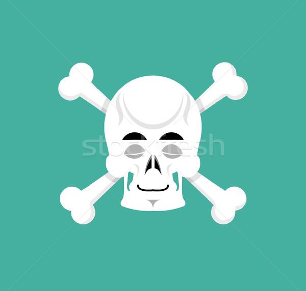 череп кость скелет голову спящий эмоций Сток-фото © popaukropa