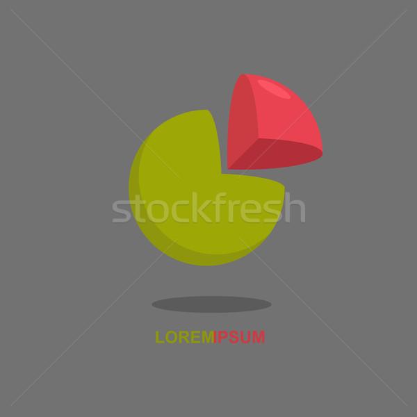 Logo gömb vág rész labda logotípus Stock fotó © popaukropa
