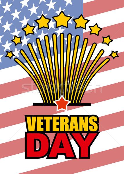 Giorno americano USA bandiera patriottico Foto d'archivio © popaukropa